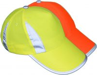 Korntex® Premium Kinder Hochsichtbarkeits-Cap Gelb/Orange